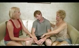 Granny's Scarlet and Tracy Suck On Dick